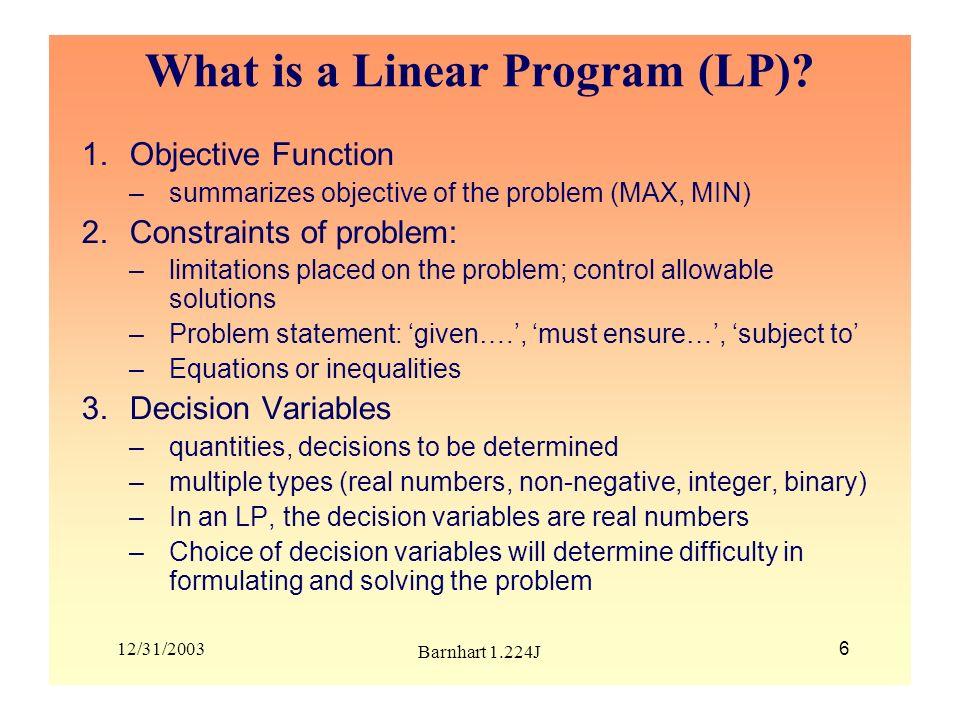 12/31/2003 Barnhart 1.224J 37 Example continued Basic vs.