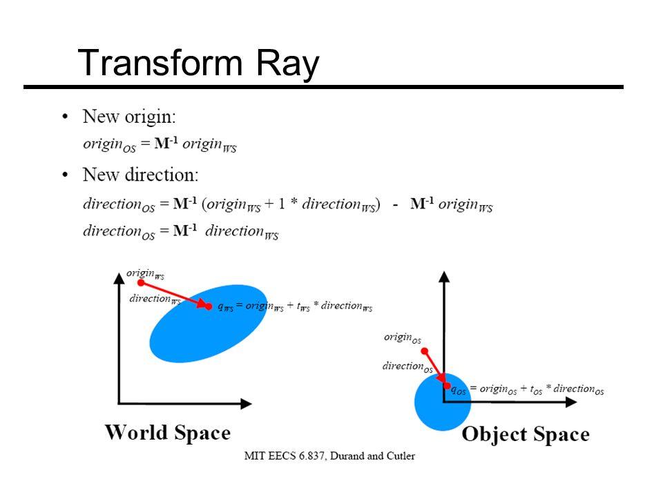Transform Ray