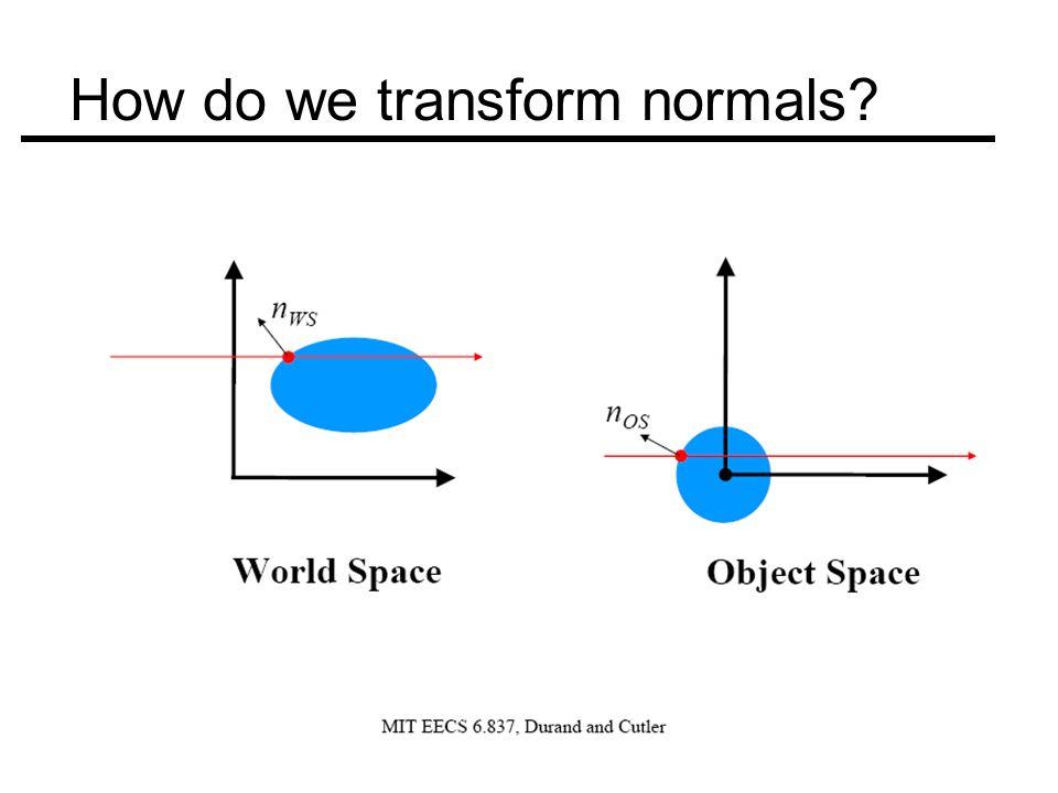 How do we transform normals