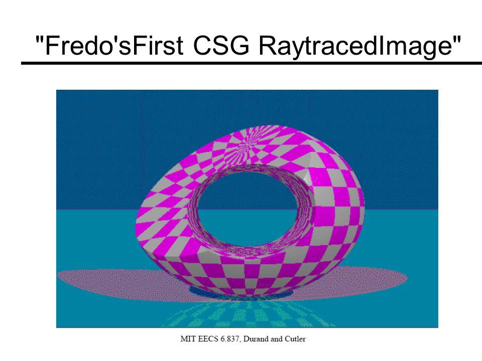 Fredo sFirst CSG RaytracedImage