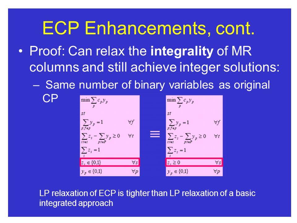 ECP Enhancements, cont.