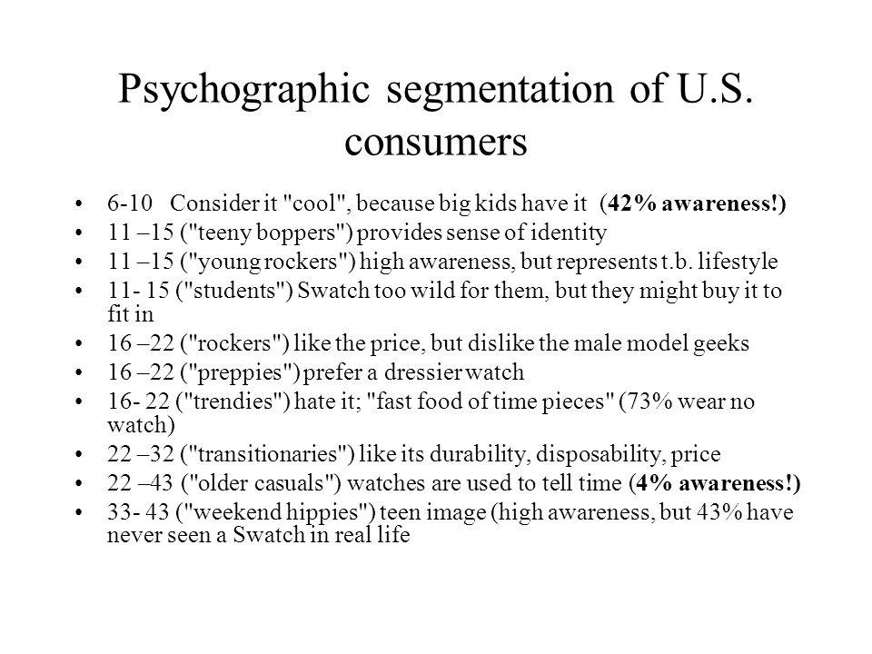 Psychographic segmentation of U.S.
