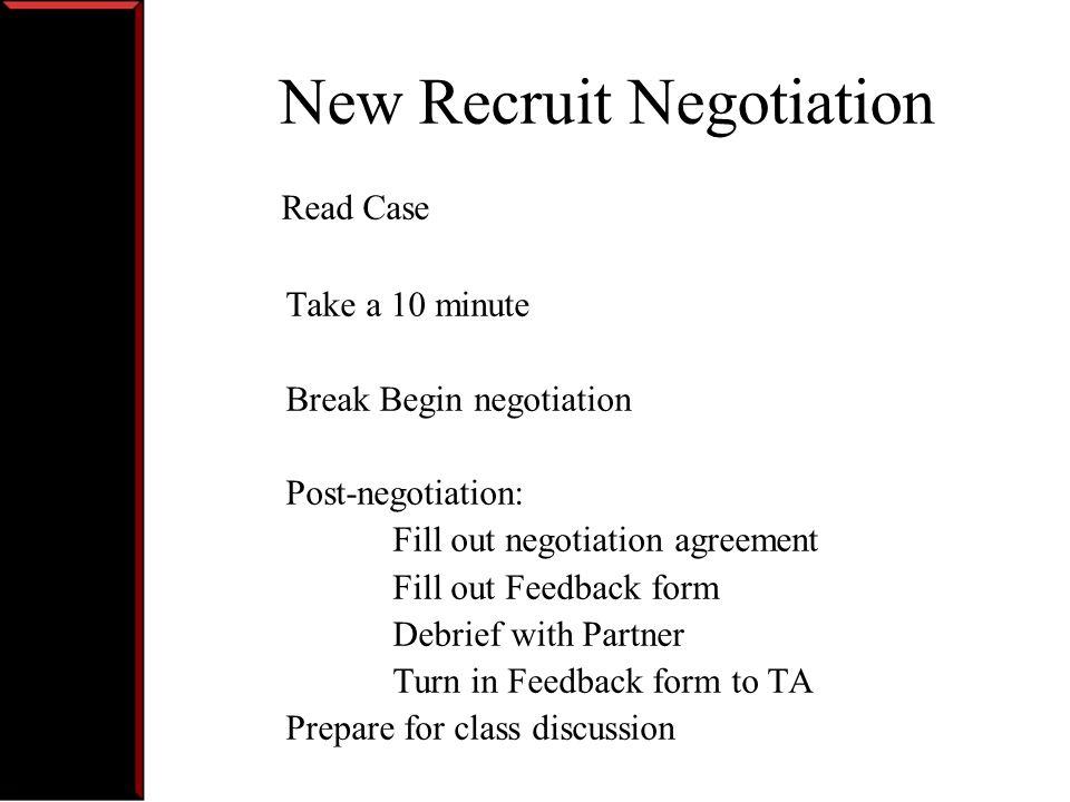 Discussion Bargaining Range.Did you set a Goal. Aspiration.