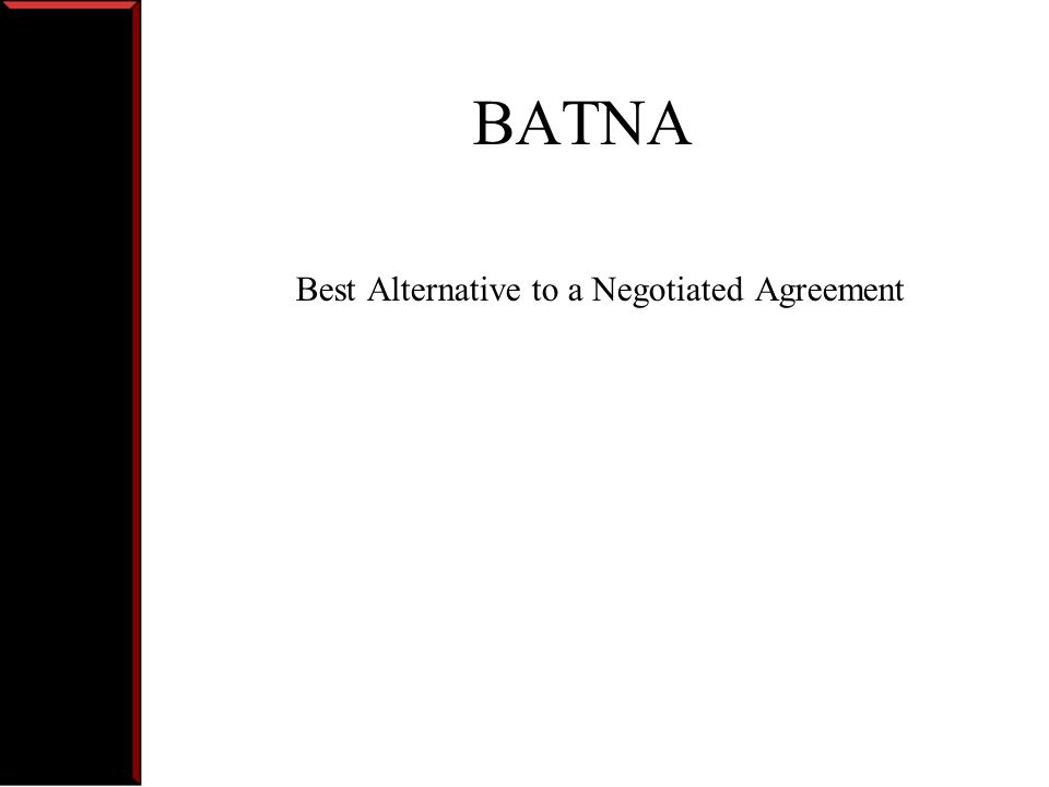 Negotiation Terms