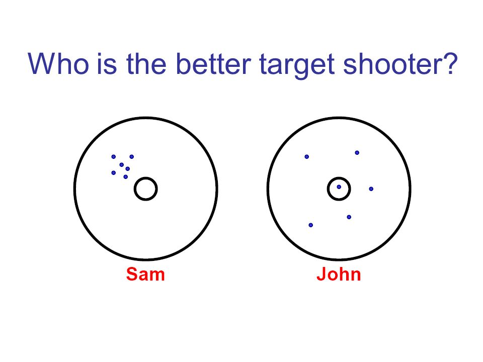 Who is the better target shooter