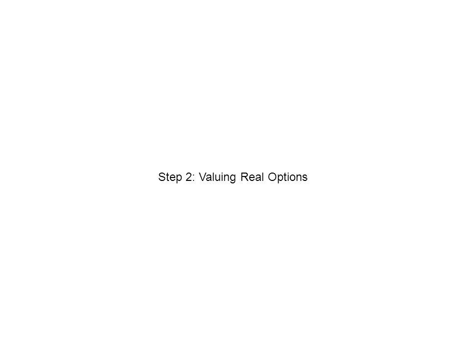 Step 2: Valuing Real Options