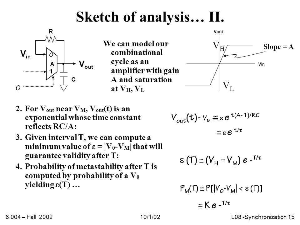 6.004 – Fall 200210/1/02L08 -Synchronization 15 Sketch of analysis… II.