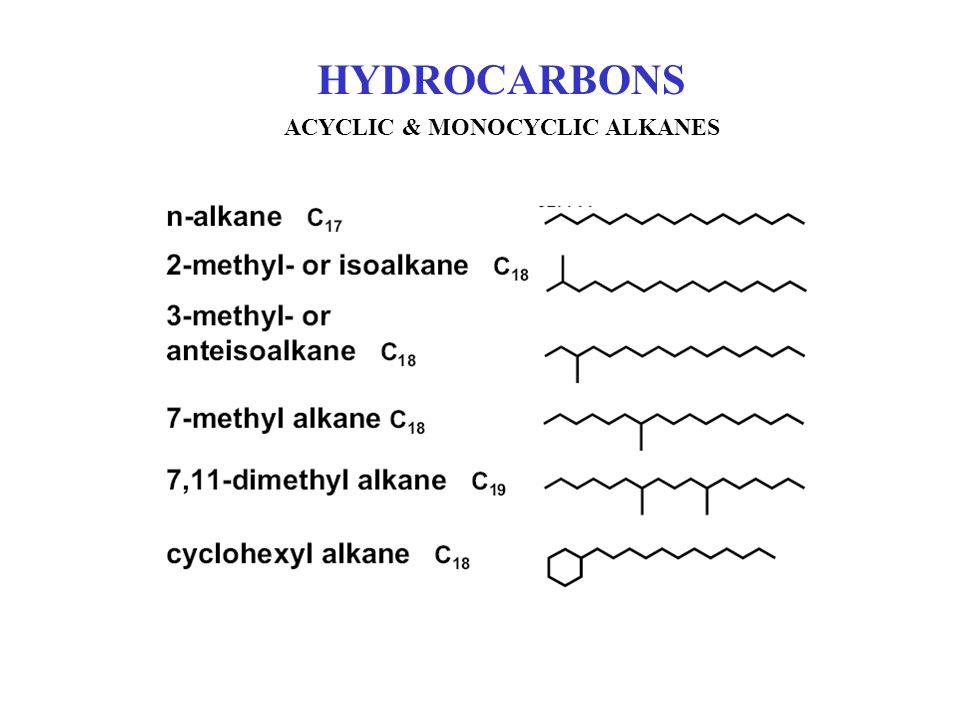 HYDROCARBONS ACYCLIC & MONOCYCLIC ALKANES