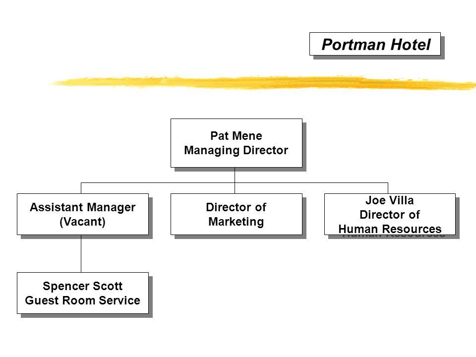 Portman Hotel Spencer Scott Guest Room Service Spencer Scott Guest Room Service Joe Villa Director of Human Resources Joe Villa Director of Human Reso