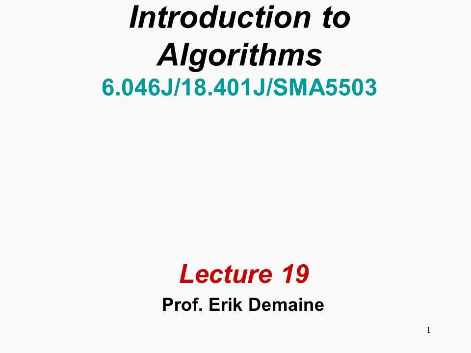 2 Shortest paths Single-source shortest paths Nonnegative edge weights Dijkstras algorithm: O(E + V lg V) General Bellman-Ford: O(VE) DAG One pass of Bellman-Ford: O(V + E) All-pairs shortest paths Nonnegative edge weights Dijkstras algorithm |V| times: O(VE + V 2 lg V) General Three algorithms today.