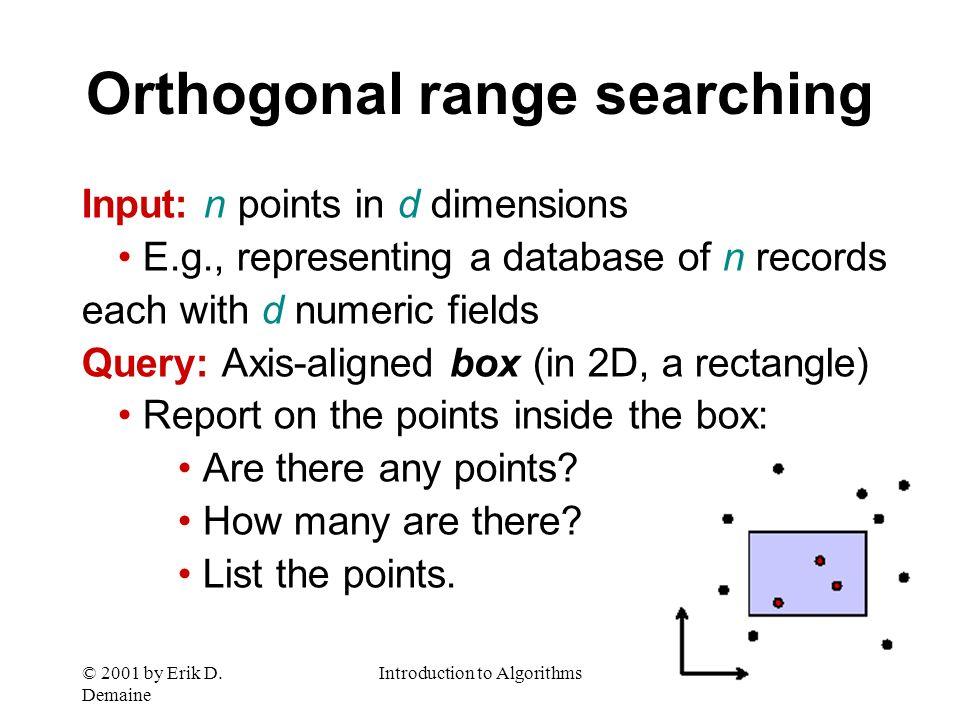 © 2001 by Erik D. Demaine Introduction to AlgorithmsDay 21 L12.25