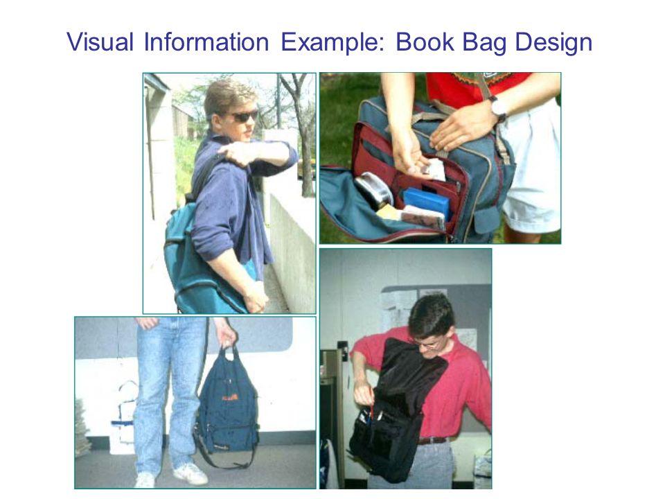 Visual Information Example: Book Bag Design