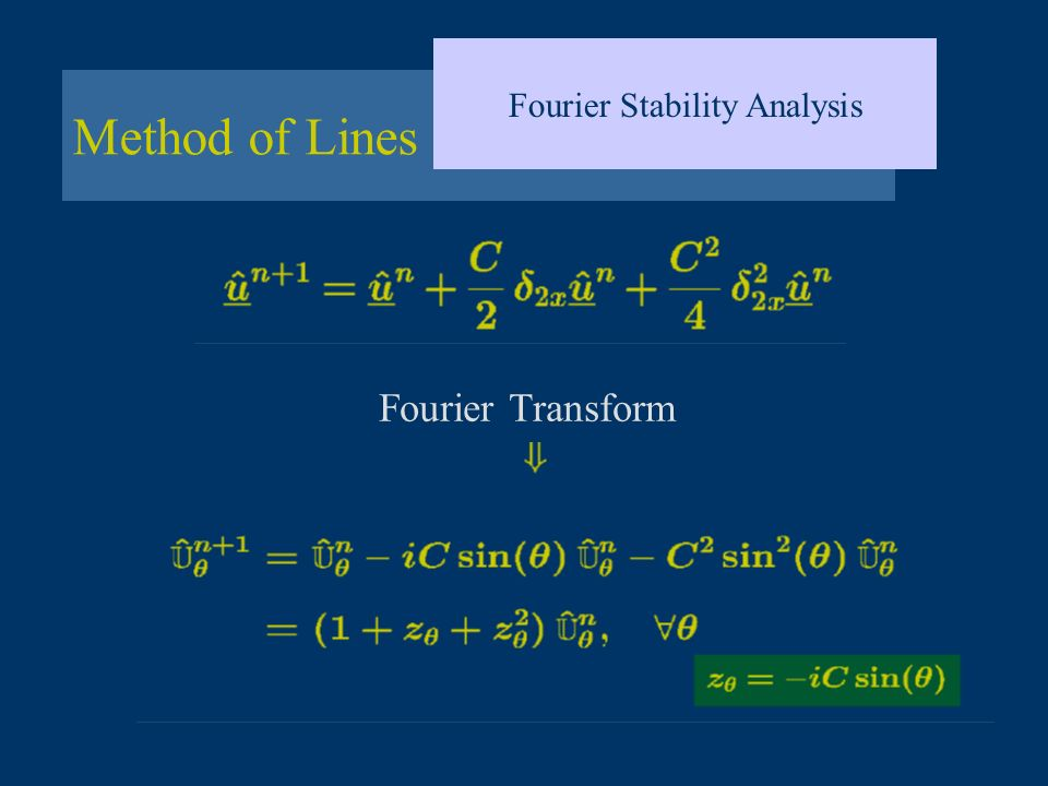 Method of Lines Fourier Stability Analysis Fourier Transform