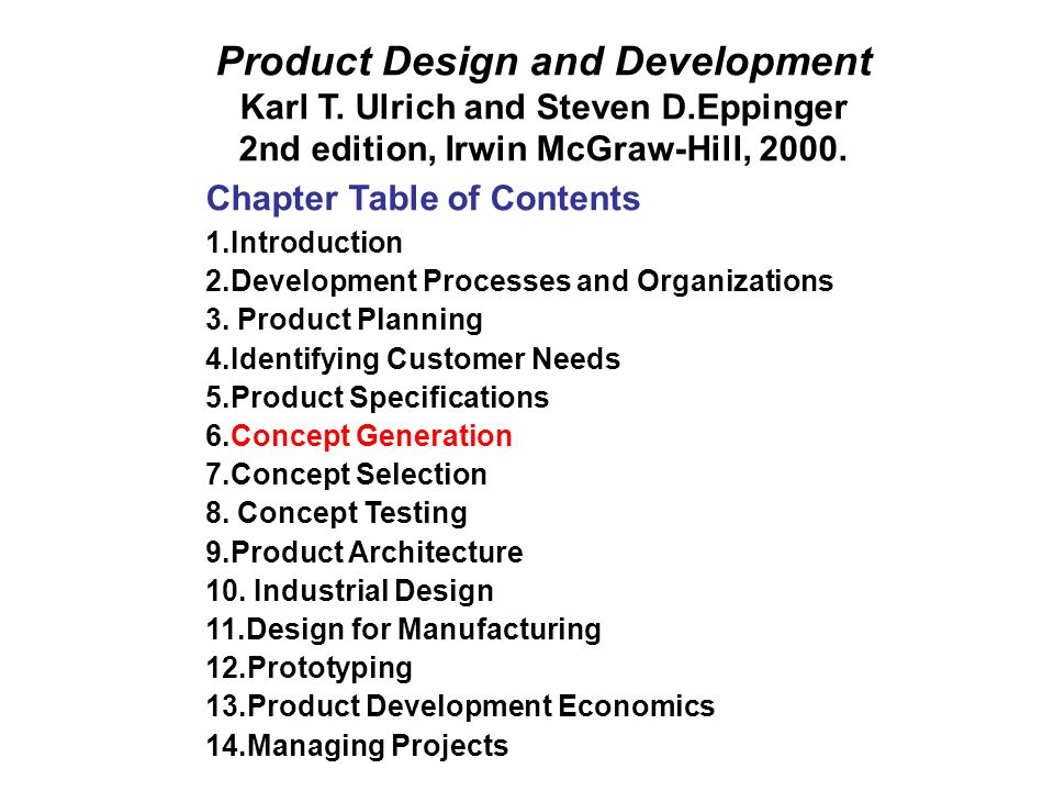 Product Design and Development Karl T.