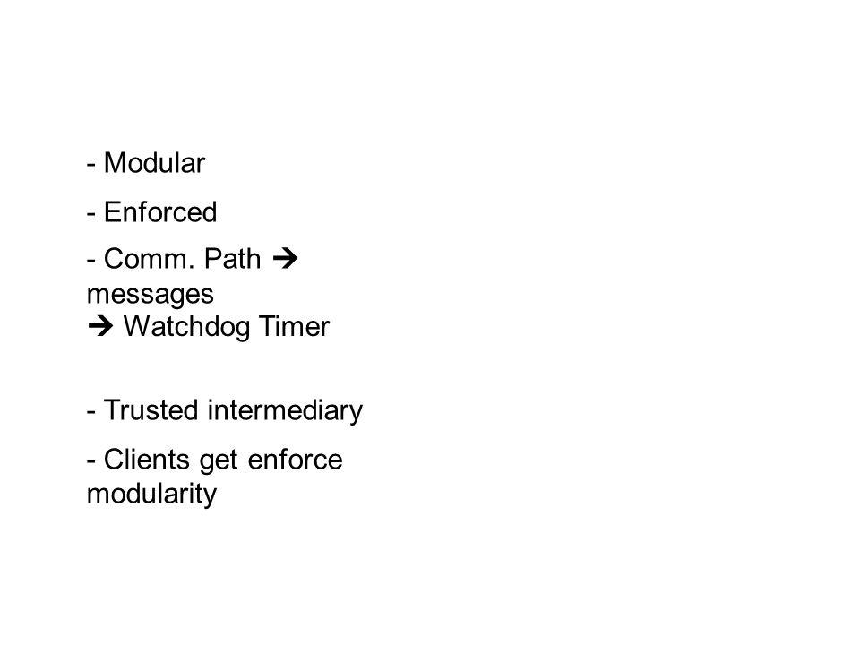 - Modular - Enforced - Comm.
