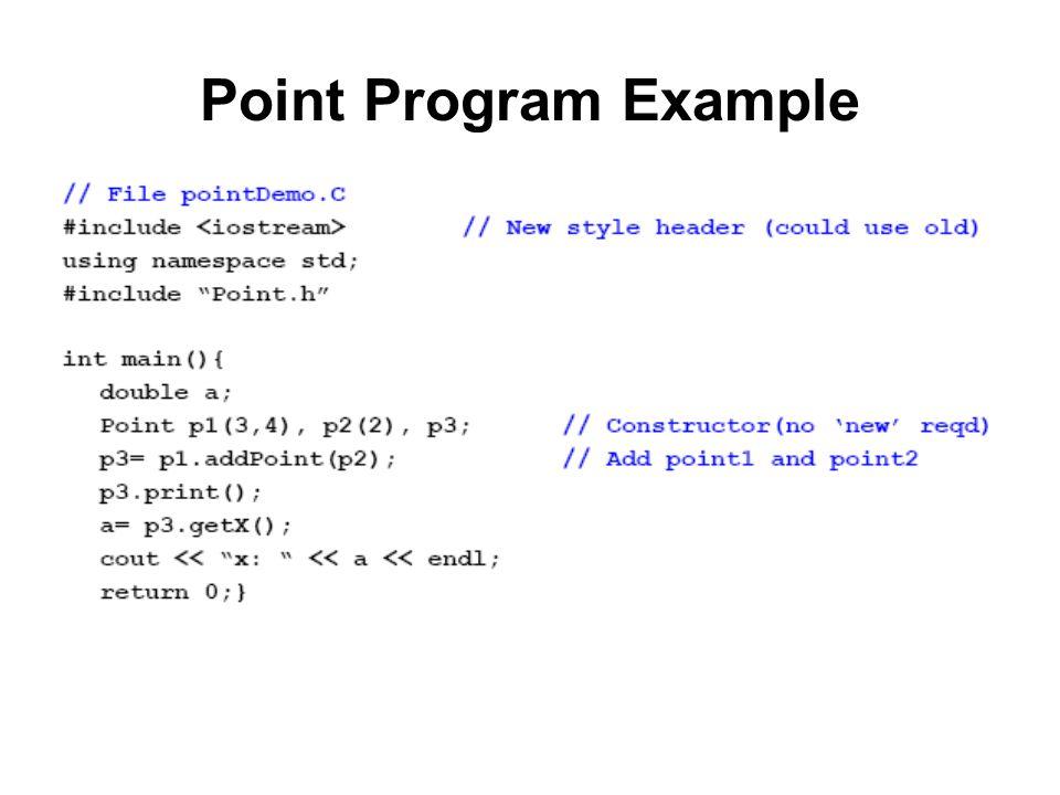 Point Program Example