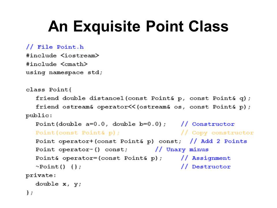 An Exquisite Point Class