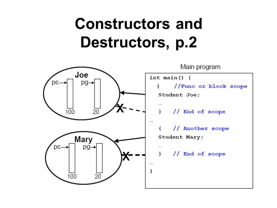 Constructors and Destructors, p.2