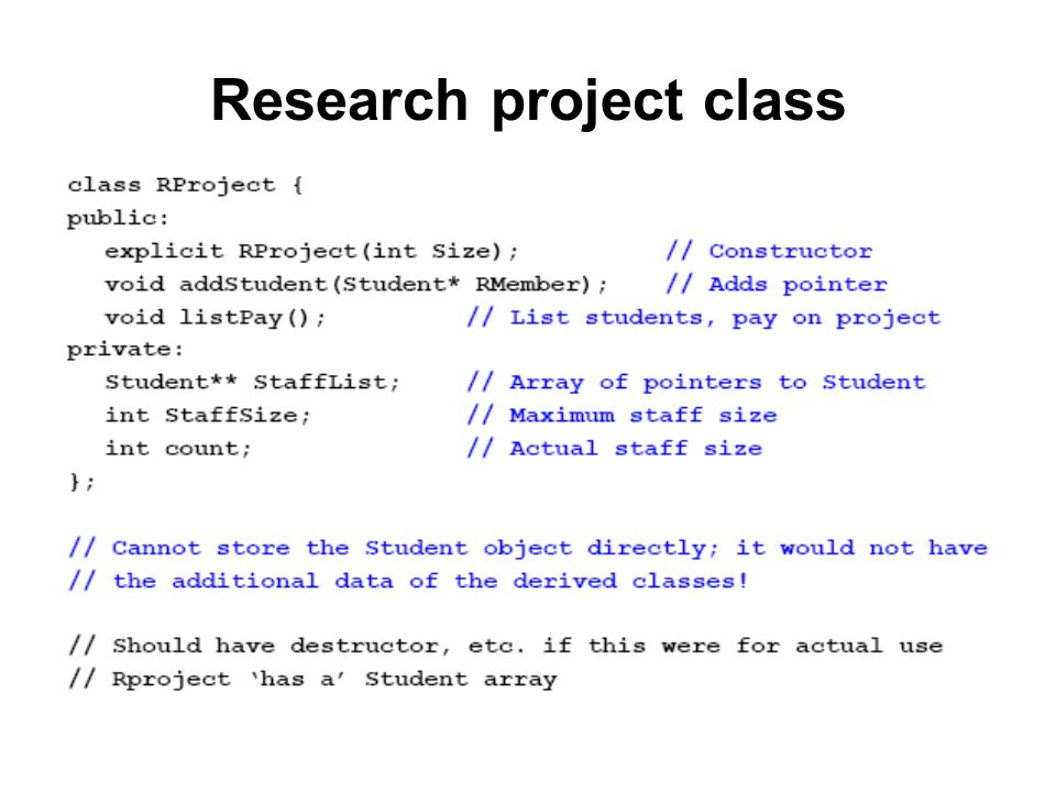 Research project class