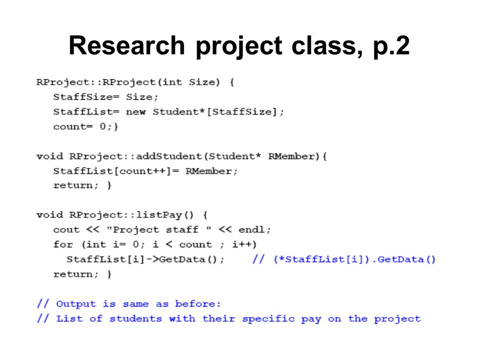 Research project class, p.2