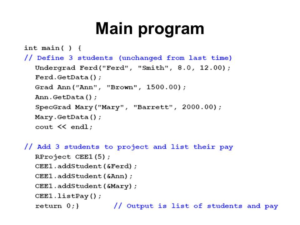 Main program