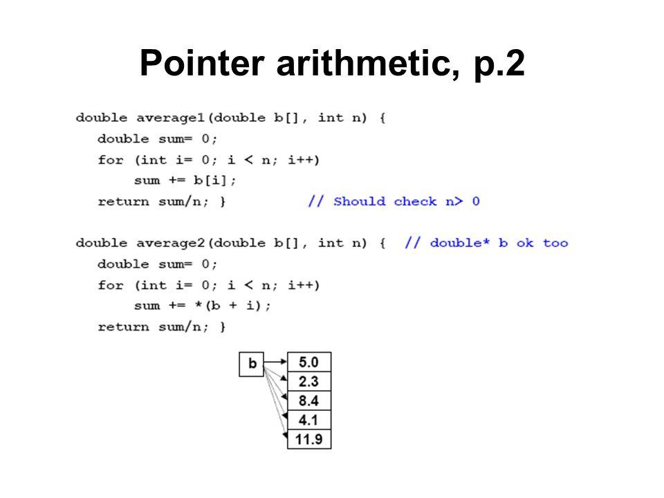 Pointer arithmetic, p.2