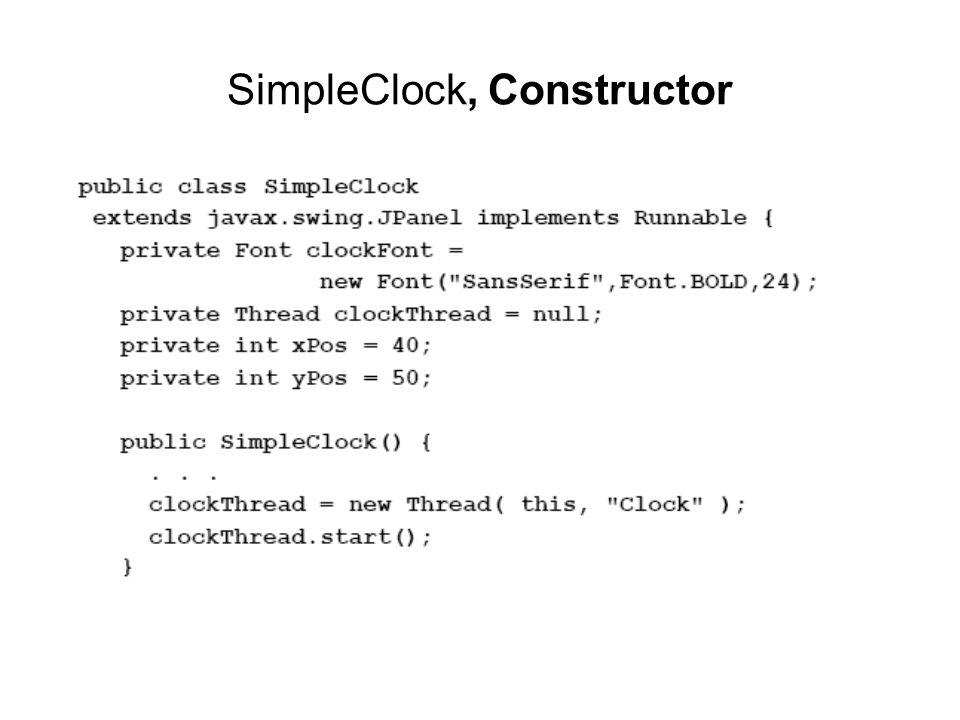 SimpleClock, Constructor