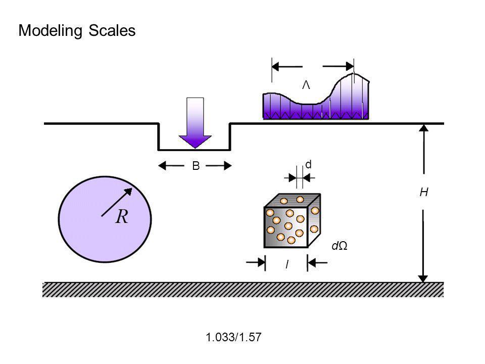 1.033/1.57 Modeling Scales Λ d H B d l