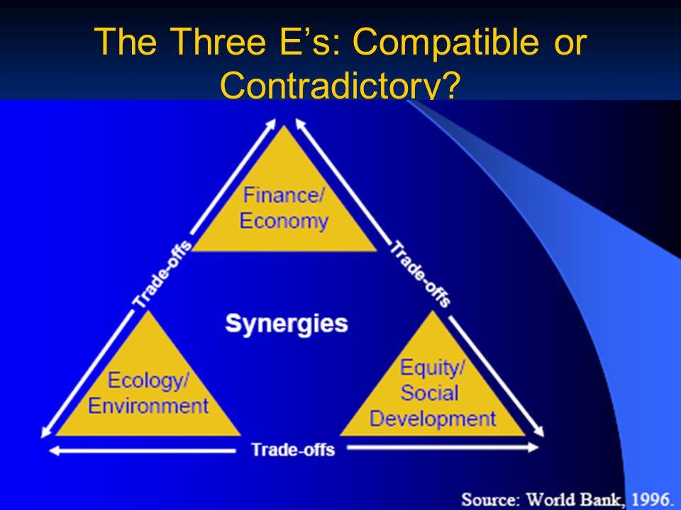 The Three Es: Compatible or Contradictory?