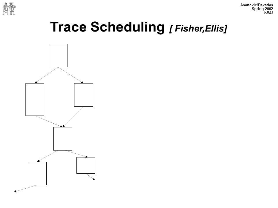 Asanovic/Devadas Spring 2002 6.823 Trace Scheduling [ Fisher,Ellis]