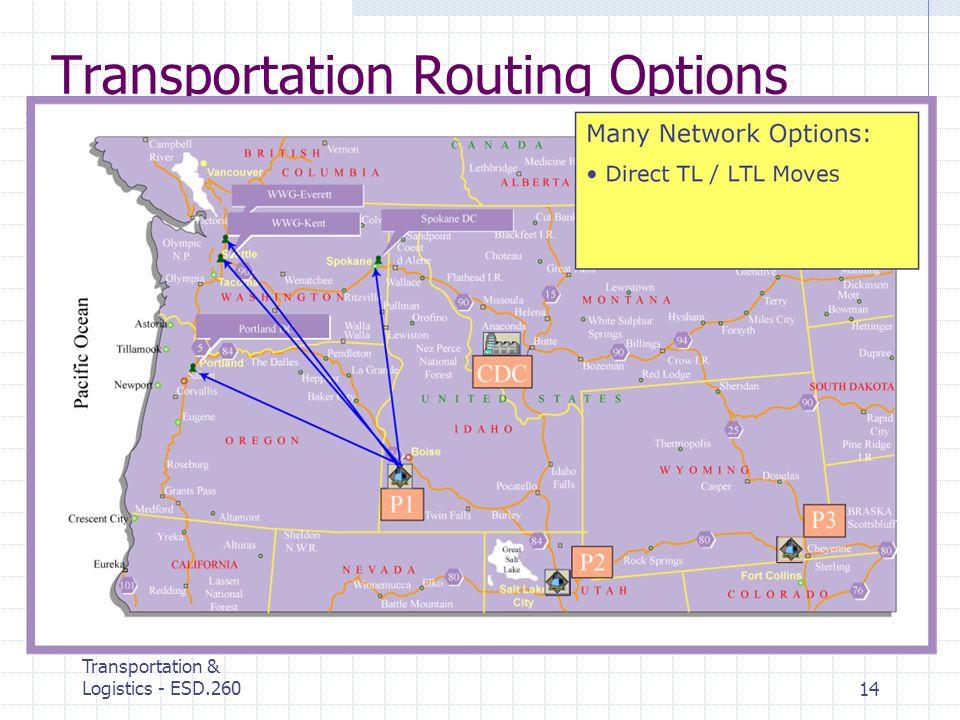 MIT Center for Transportation & Logistics - ESD.26014 Transportation Routing Options