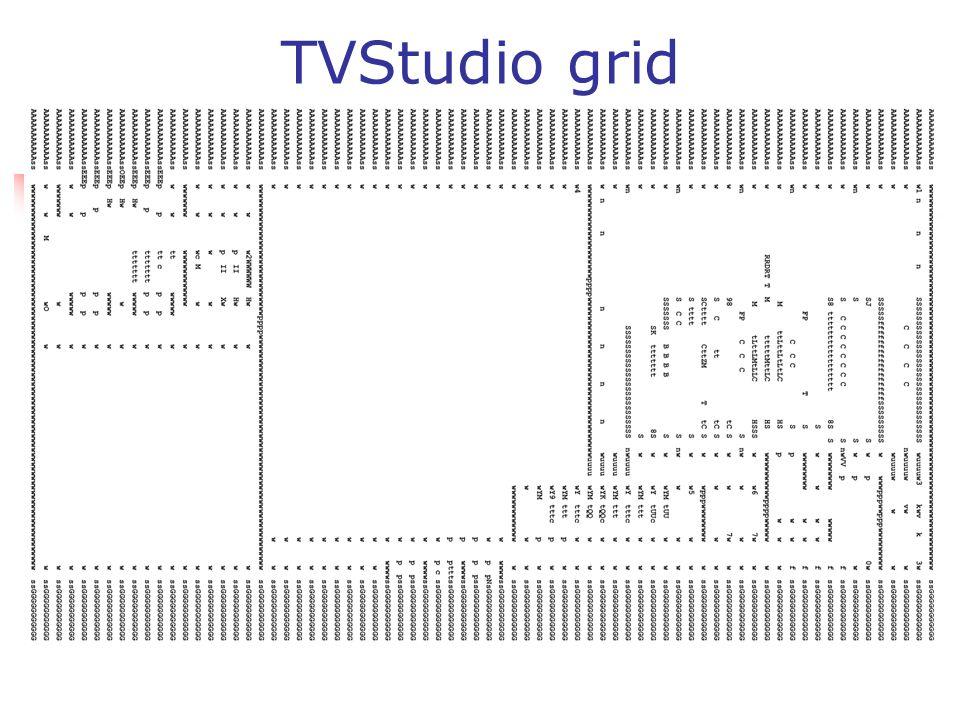 TVStudio grid