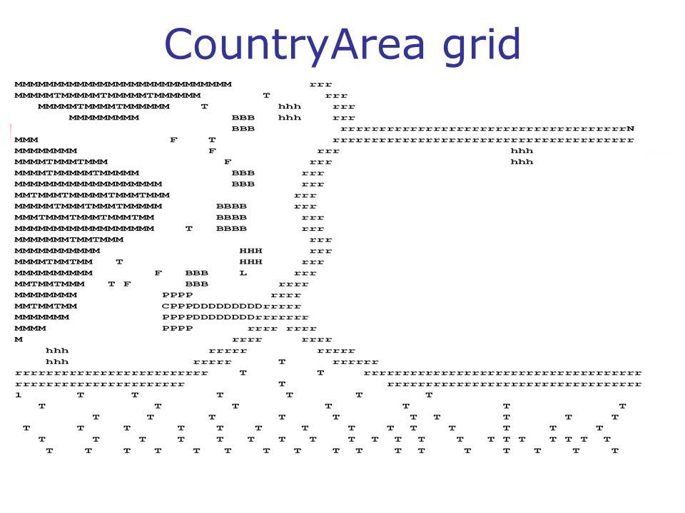 CountryArea grid