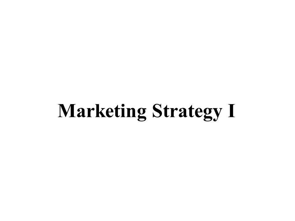 Marketing Strategy I