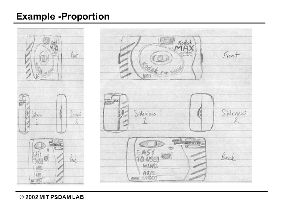 Example -Proportion © 2002 MIT PSDAM LAB
