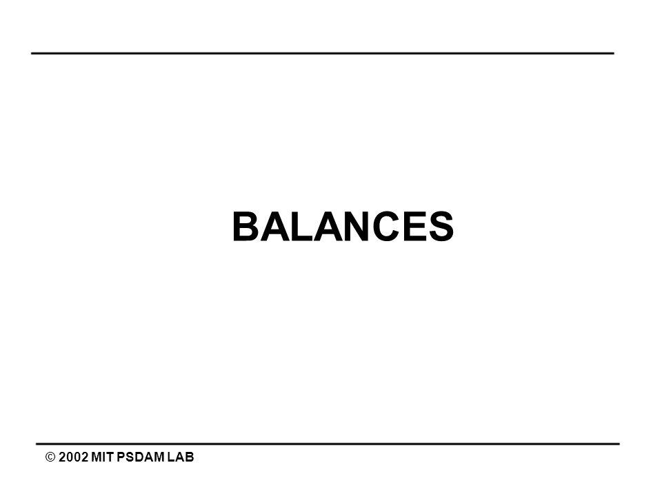 BALANCES © 2002 MIT PSDAM LAB