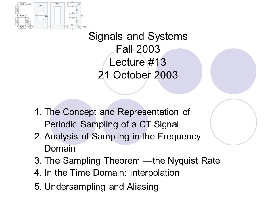 Signals and Systems Fall 2003 Lecture #13 21 October 2003 1.