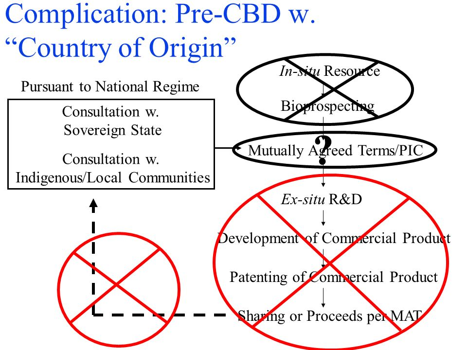 Complication: Pre-CBD w. Country of Origin In-situ Resource Bioprospecting Consultation w.