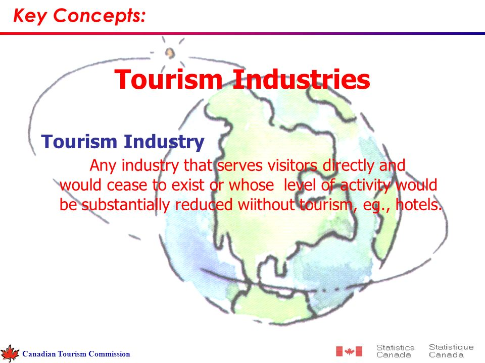 Tourism Industries Tourism Industry Any industry that serves visitors directly and would cease to exist or whose level of activity would be substantially reduced wiithout tourism, eg., hotels.