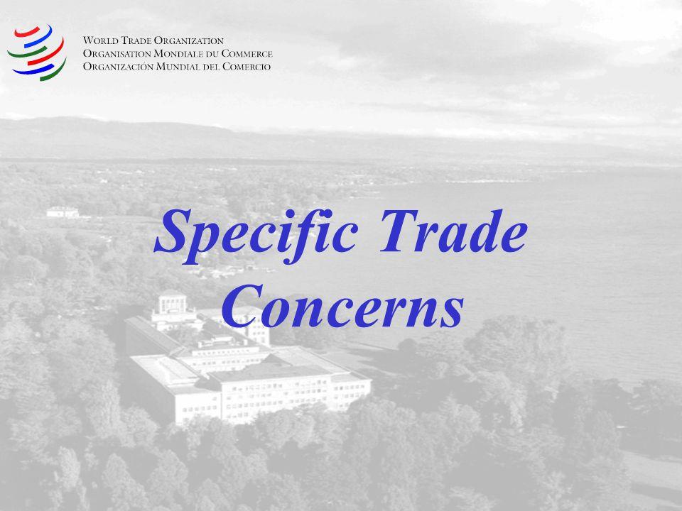 Specific Trade Concerns