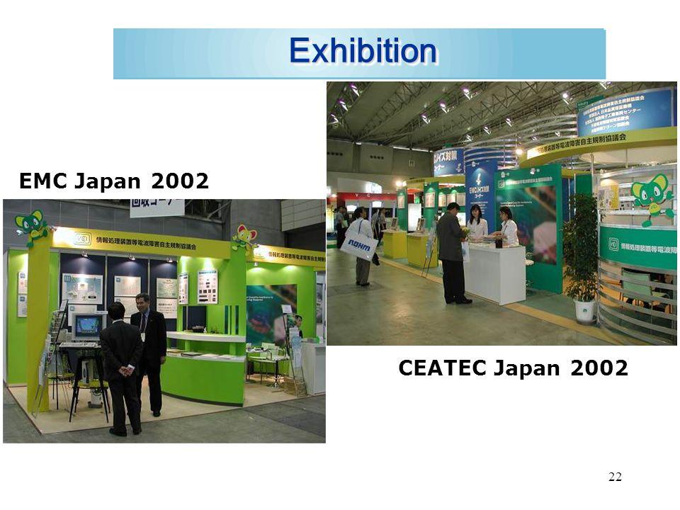 22 ExhibitionExhibition EMC Japan 2002 CEATEC Japan 2002