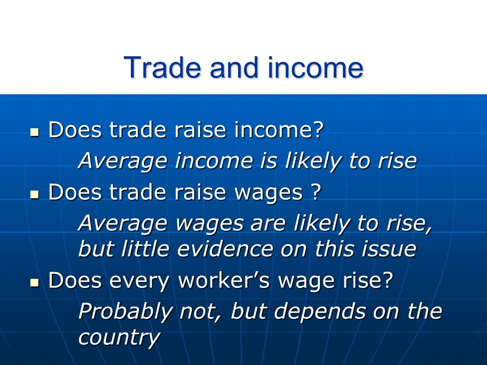 Trade and inequality What do we know about inequality.