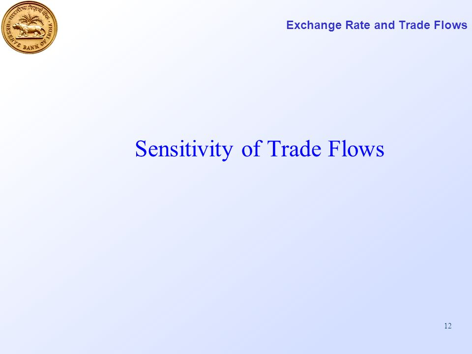12 Exchange Rate and Trade Flows Sensitivity of Trade Flows