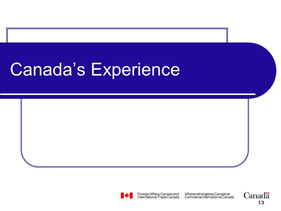 13 Canadas Experience