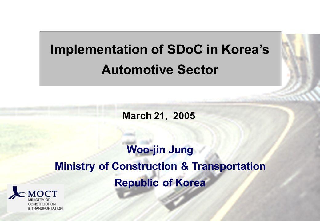 Contents 1.Vehicle Safety Standards 2. Koreas regulatory practice 3.
