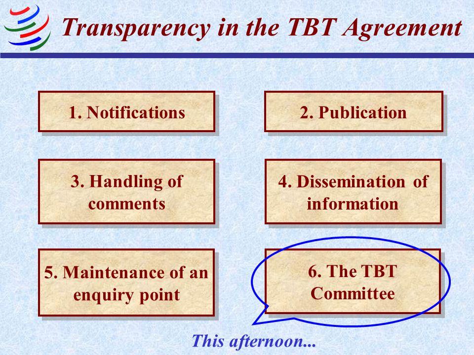 Relevant TBT Provisions TBT Art.