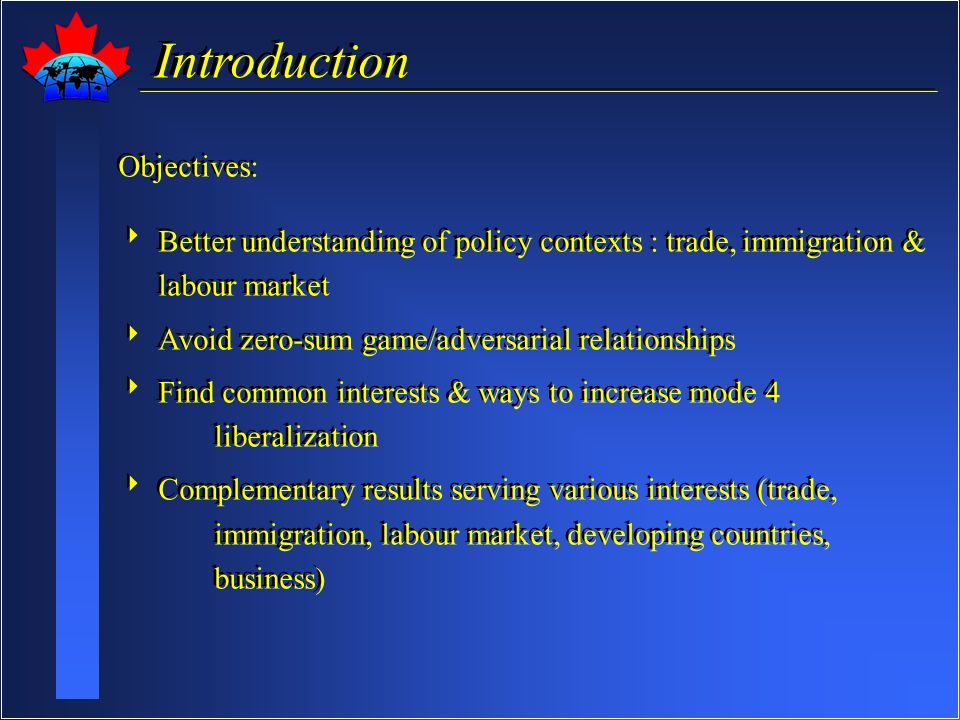 Policy Contexts Intersect Trade Labour Mode 4 Issues Immigration