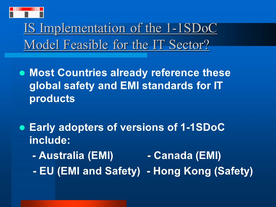 IS Implementation of the 1-1SDoC Model Feasible for the IT Sector.
