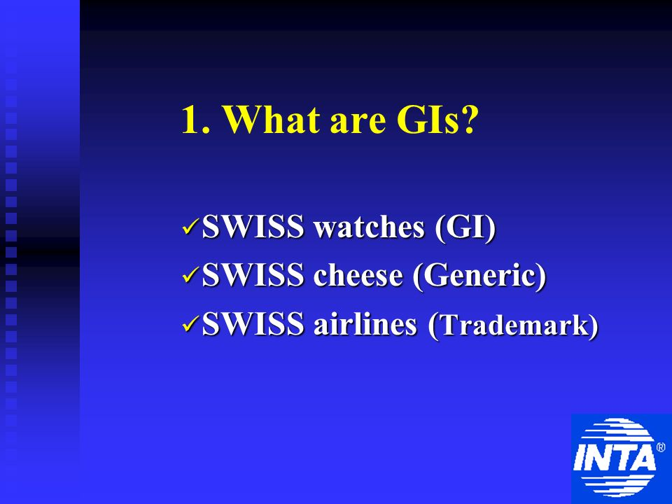 1. What are GIs.