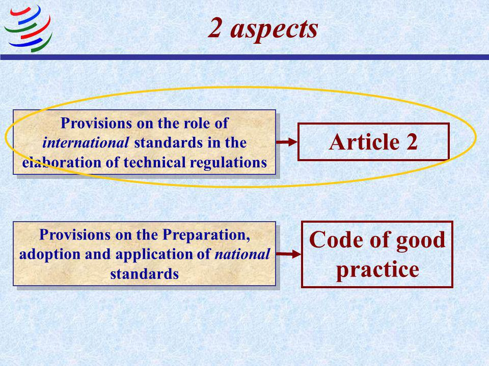 Relevant Provisions of the TBT Agreement